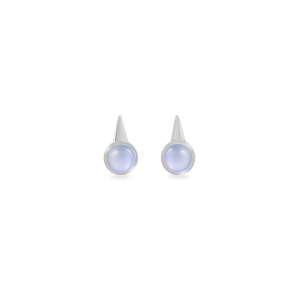 Earrings,Sterling Silver,Chalcedony