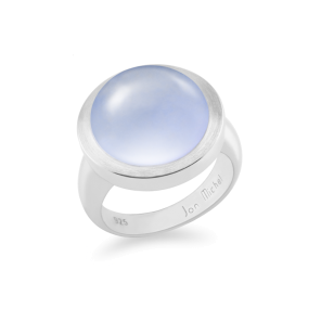 Ring,Sterling Silver,Chalcedony