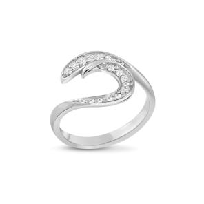 Ring,Sterling Silver ,White Zircon
