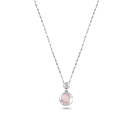 Pendant, Sterling Silver, Chalcedony
