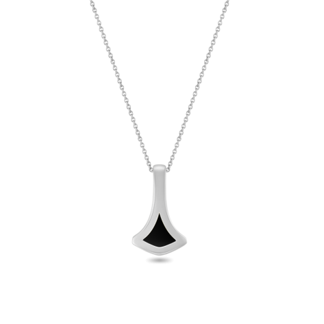 Pendant,Sterling Silver, Black Onyx