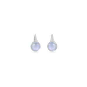 Earrings,Sterling Silver,Chalcedony