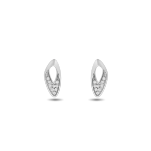 Earring,Sterling Silver ,White Zircon