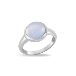 Ring,Sterling Silver ,Chalcedony
