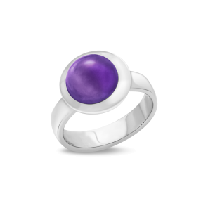 Ring,Sterling Silver,Amethyst