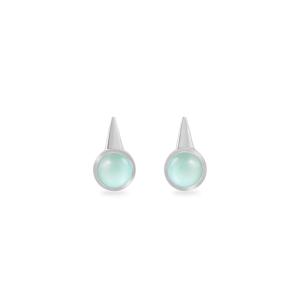 Earring,Sterling Silver,Chalcedony